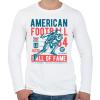 PRINTFASHION Amerikai foci - Férfi hosszú ujjú póló - Fehér