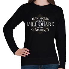 PRINTFASHION Millionare - Női pulóver - Fekete