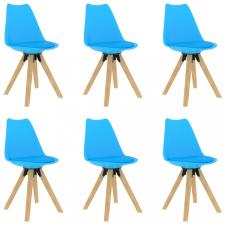 6 db kék étkezőszék bútor