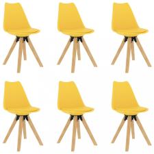 6 db sárga étkezőszék bútor