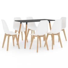 7 részes fehér étkezőszett bútor