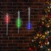 8 db-os LED meteoreső, 30 cm, színes