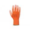 A120 - Nylon kesztyű PU tenyérmártott - narancs