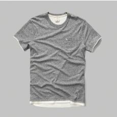 Abercrombie póló- zsebes, szürke