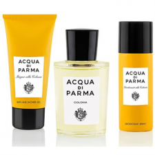 Acqua Di Parma Colonia szett I. (100 ml eau de cologne + 75 ml tusfürdő + 50 ml spray dezodor), edc unisex tusfürdők