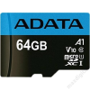 ADATA Memóriakártya MicroSDXC 64GB + Adapter UHS-I CLASS 10