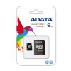 ADATA MICRO SDHC Adata 8GB 1 Adapter CL4 (AUSDH8GCL4-RA1)