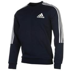 Adidas Adidas férfi pulóver - adidas 3 Stripes Crew Sweatshirt Mens Navy  White 4b811772c9