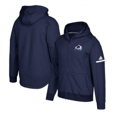 Adidas Colorado Avalanche fĂŠrfi kapucnis pulóver blue Authentic Pro Squad ID Full-Zip Hood - S