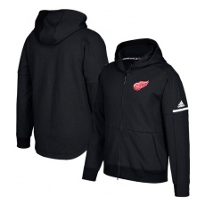Adidas Detroit Red Wings fĂŠrfi kapucnis pulóver black Authentic Pro Squad ID Full-Zip Hood - S
