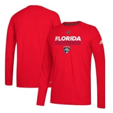 Adidas Florida Panthers fĂŠrfi hosszú ujjú póló red Authentic Ice Climalite Ultimate L/S - L