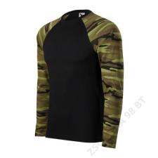 ADLER Camouflage LS Pólók unisex, terepszín zöld férfi póló