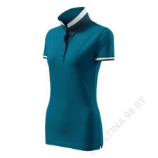 ADLER Collar Up Galléros póló női, petrol blue női póló