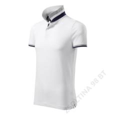 ADLER Collar Up MALFINI galléros póló férfi, fehér
