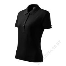 ADLER Cotton Heavy ADLER galléros póló női, fekete