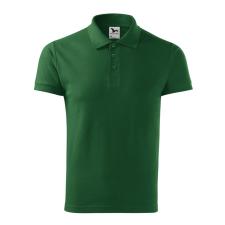 ADLER Férfi galléros póló Cotton Heavy - lahvově zelená / L férfi póló