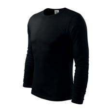 ADLER Fit-T hosszú ujjú póló, fekete, 160g/m2