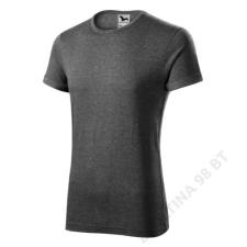 ADLER Fusion Pólók férfi, fekete melírozott férfi póló