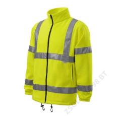 ADLER HV Fleece Jacket RIMECK polár unisex, fényvisszaverő sárga