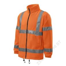 ADLER HV Fleece Jacket RIMECK polár unisex, visszaverő szín narancssárga
