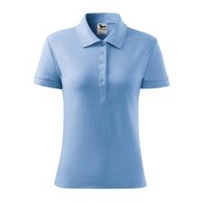 ADLER Női galléros póló Cotton Heavy - nebesky modrá / XL női póló