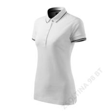 ADLER Perfection plain MALFINI galléros póló női, fehér