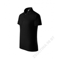 ADLER Pique Polo ADLER galléros póló gyerek, fekete