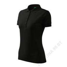ADLER Pique Polo ADLER galléros póló női, fekete