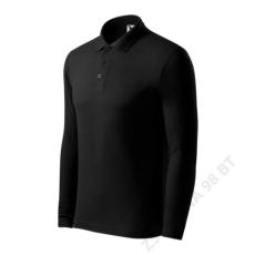 ADLER Pique Polo LS ADLER galléros póló férfi, fekete