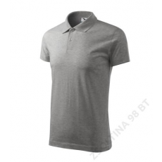 ADLER Single J. ADLER galléros póló unisex, sötétszürke melírozott