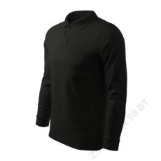 ADLER Single J. LS ADLER galléros póló férfi, fekete