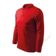 ADLER Single J. LS ADLER galléros póló férfi, piros