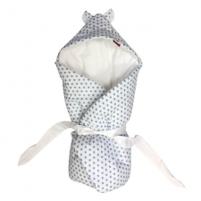 Aesthetic Pólya kapucnival, újszülött, csillagos, kék pólya