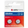 Agfaphoto alkáli gombelem LR60 AG1 (2db)