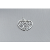 Agrianna Ezüst medál virág mintás szív