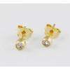 Agrianna Sárga arany bedugós szoliter fehér köves fülbevaló
