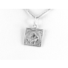 Agrianna Vízöntő csillagjegy ezüst medál, négyszögletes