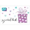 AJI feltölthetõ ajándékkártya-Románc