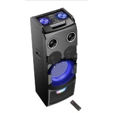 Akai Karaoke Bluetooth party hangszóró, gitárerősítő színes világítással, 50 W, ABTS-W5 hordozható hangszóró