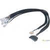 Akasa FLEXA FP5S SATA -> 5x 4pin PWM ventilátor kábel 45cm /AK-CBFA07-45/