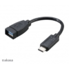 Akasa USB 3.1 Kabel, Typ C - > Typ A + Adapter, 15 cm - fekete AK-CBUB30-15BK