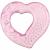 AKUKU Hűsítő rágóka Akuku szívecske rózsaszín