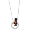 Akzent horgony-nyaklánc ékszer nemesacél, ezüst, hosszúság43 cm + 5 cm VerHosszrung / vastagság 2 mm tartalmaz nyaklánc kiegészítőaus nemesacél és Műanyag