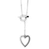 Akzent horgony-nyaklánc ékszer nemesacél, ezüst, hosszúság48 cm / vastagság 2 mm tartalmaz nyaklánc kiegészítőaus nemesacél
