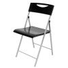 """ALBA Összecsukható szék, műanyag, ALBA """"Smile"""", fekete"""