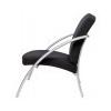 """ALBA Ügyfélváró szék, fém és szövet, ALBA """"Nova1"""", fekete"""