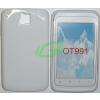 Alcatel One Touch 991 fehér szilikon tok