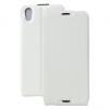 Alcatel One Touch Idol 4 / BlackBerry DTEK50, Forcell lenyitható bőrtok, Slim Flexi, felfelé nyíló - kinyitható, fehér