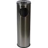 Alda Pillar fém szemetes kosarak hamutartóval, 15 l térfogat, Anyag: fém, Kosár űrtartalma: 15 L, Szín: Szürke, Modell: matt rozsdamentes acél, Magasság: 6%