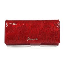 Alessandro Paoli rózsa mintás hosszú piros pénztárca 44-38